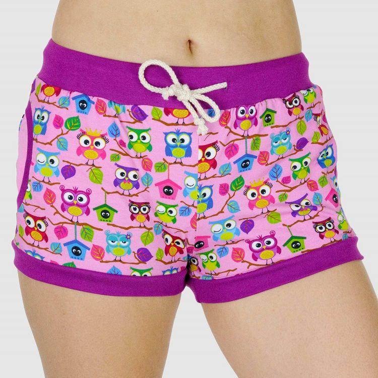 Woman-Shorts BabaubaHoots-Pink
