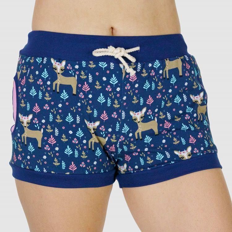 Woman-Shorts DeersAndFlowers