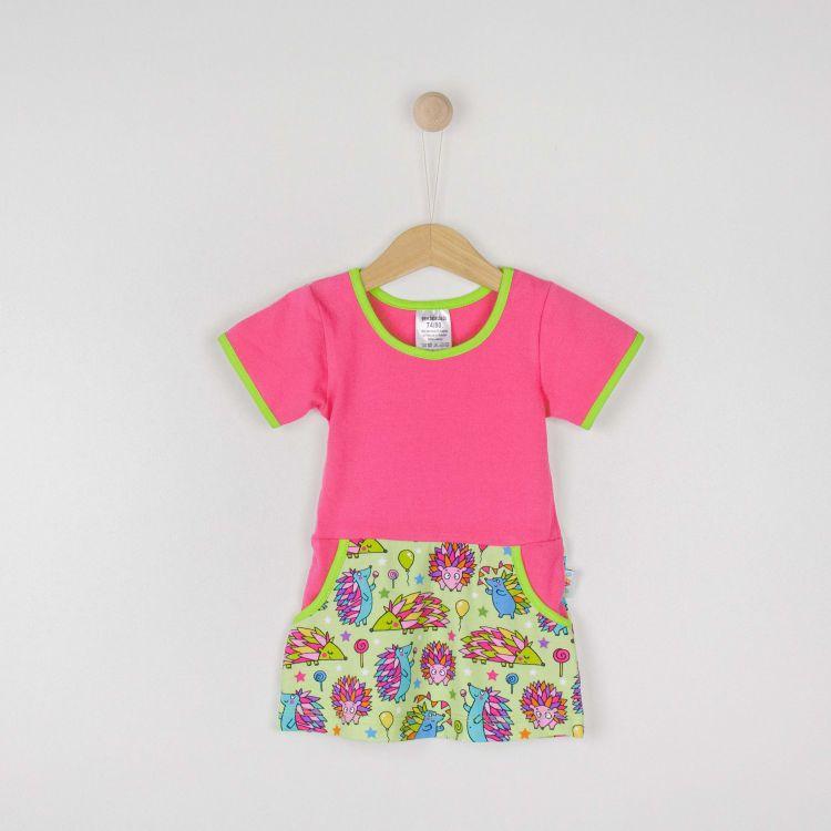 Kids-Kurzarm-PocketDress - ColorfulHedgehogs