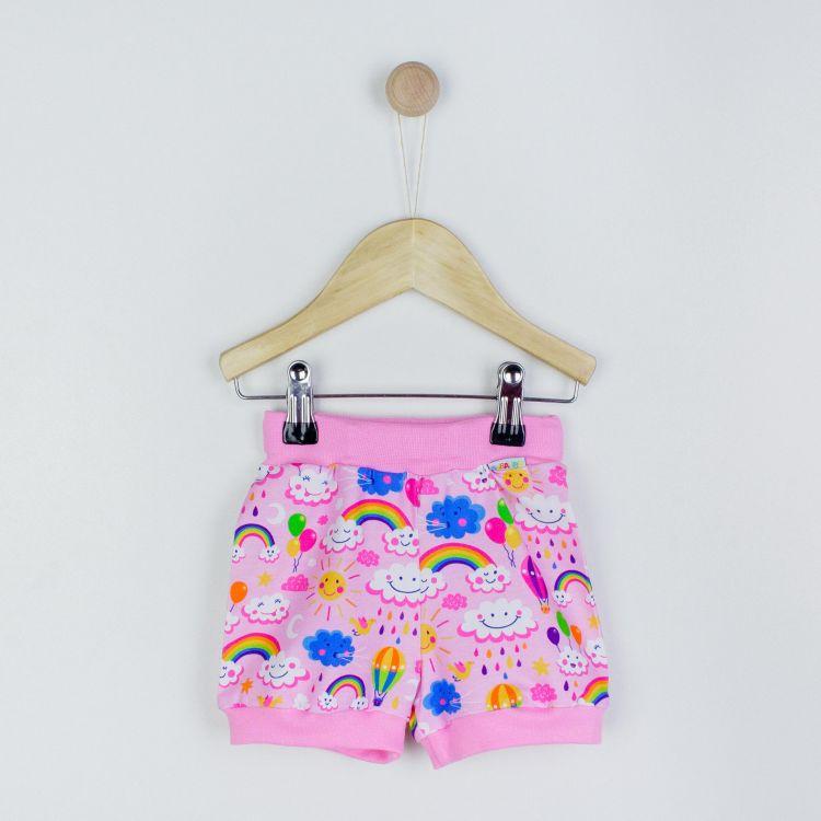 BasicShorts RainbowsAndClouds-Pink
