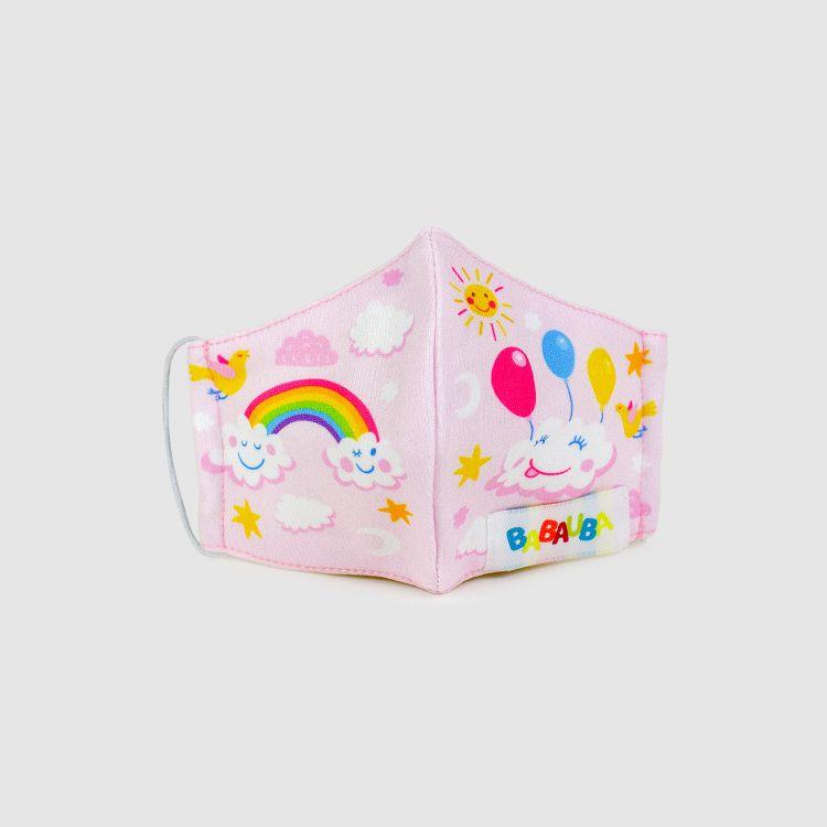 PrettyMask für Kinder RainbowsAndClouds-Pink