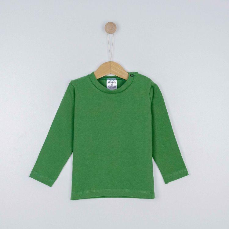 Baby-Uni-Langarmshirt - Olivgrün