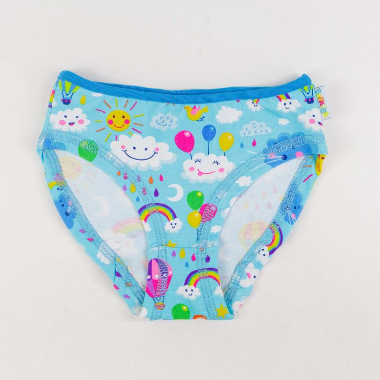 Kids-Underpants - RainbowsAndClouds-Blue-TürkisblauEdition
