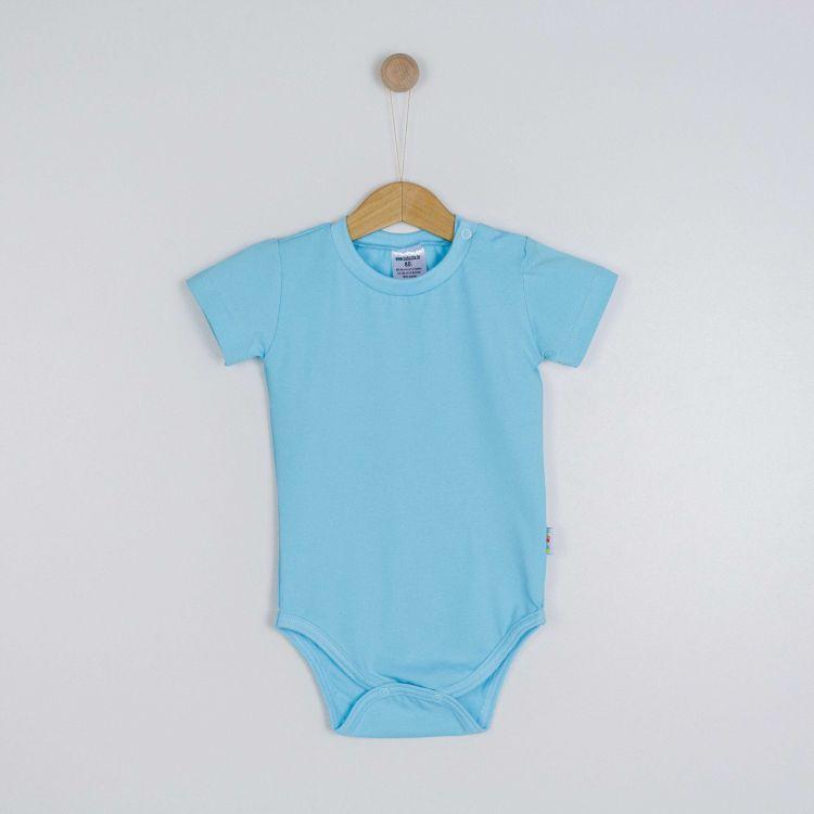 Kids-Uni-Kurzarmbody - Babyblau