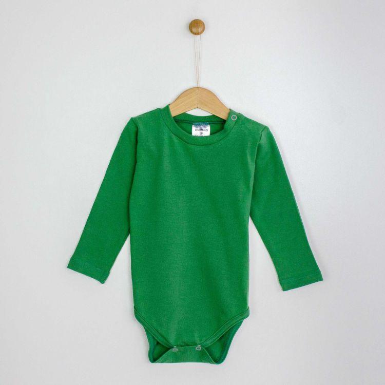 Baby-Uni-Langarmbody - Olivgrün