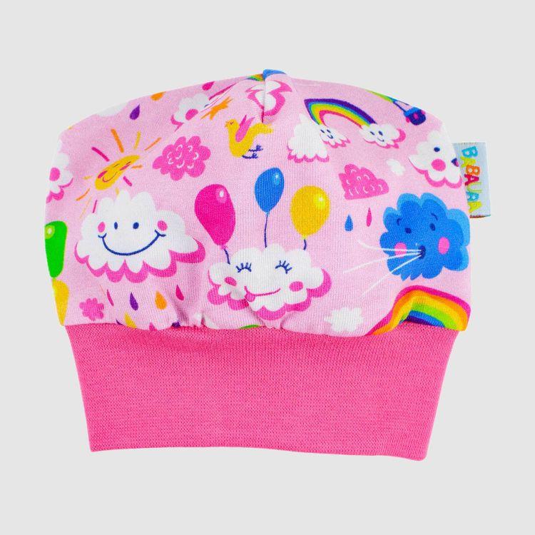 Frühchen-Beanie RainbowsAndClouds-Pink