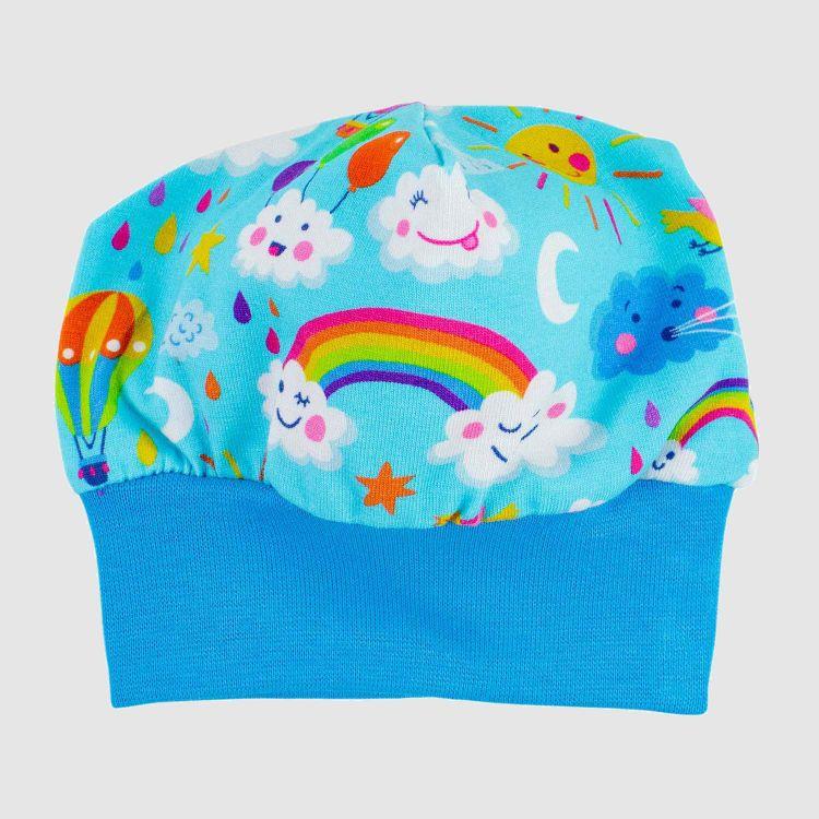 Frühchen-Beanie RainbowsAndClouds-Blue