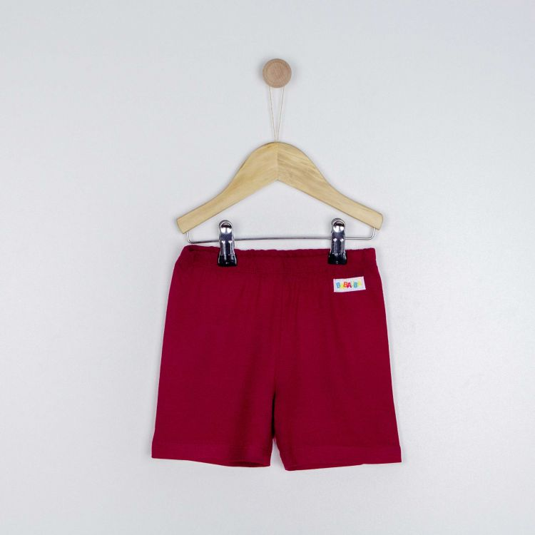 Kids-Viskose-Shorts - Weinrot