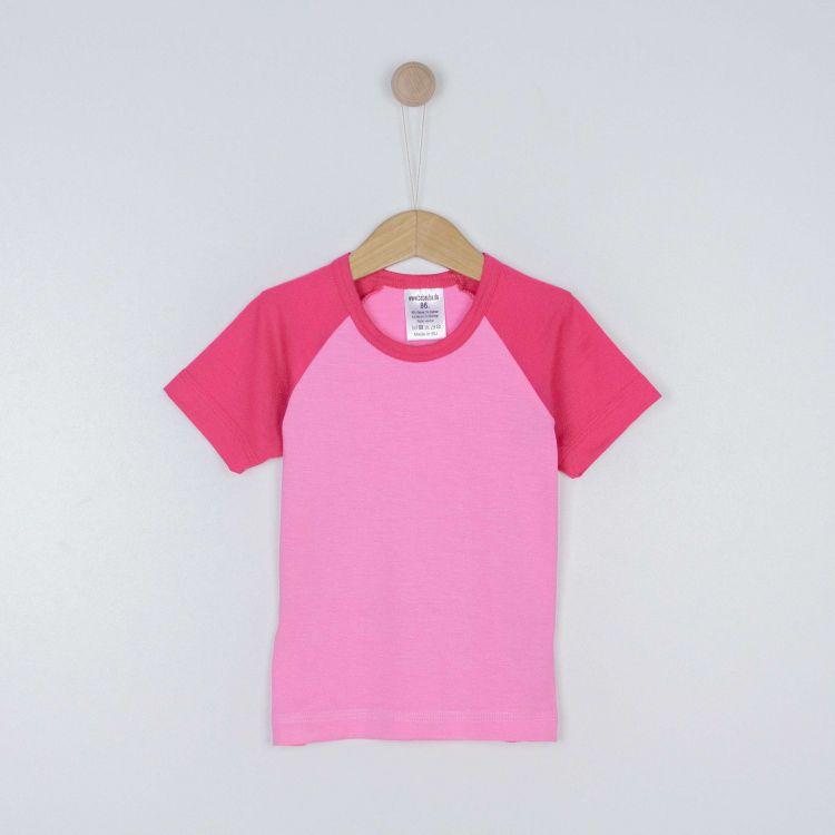 Kids-Viskose-Raglanshirt - Pink/Babyrosa