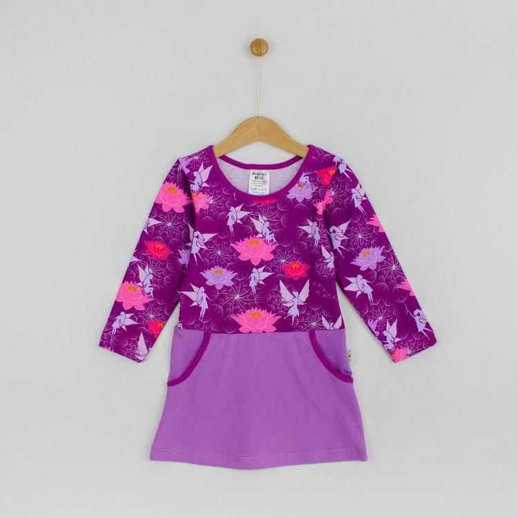 Kids-Langarm-PocketDress - FairyWorld-LavendelEdition