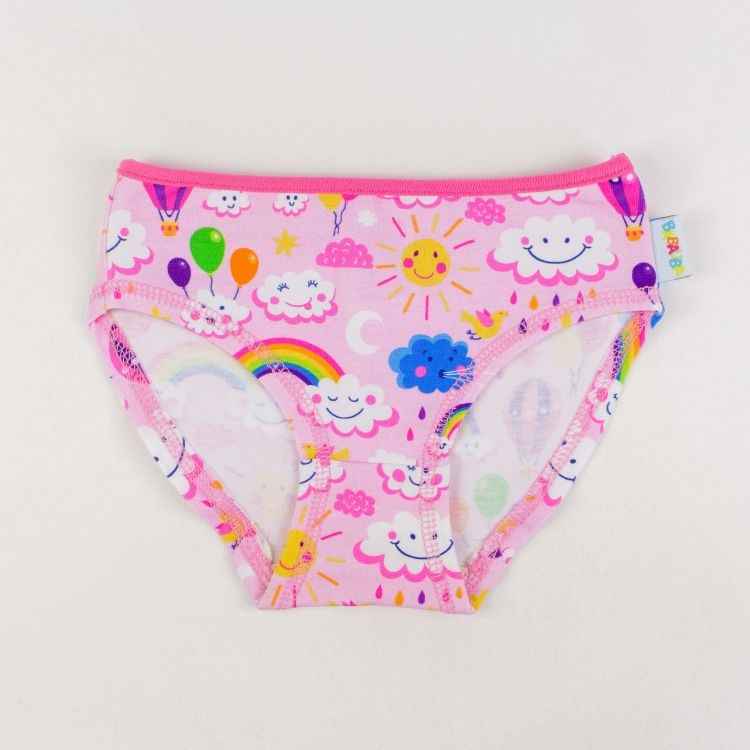 Kids-Underpants - RainbowsAndClouds-Pink
