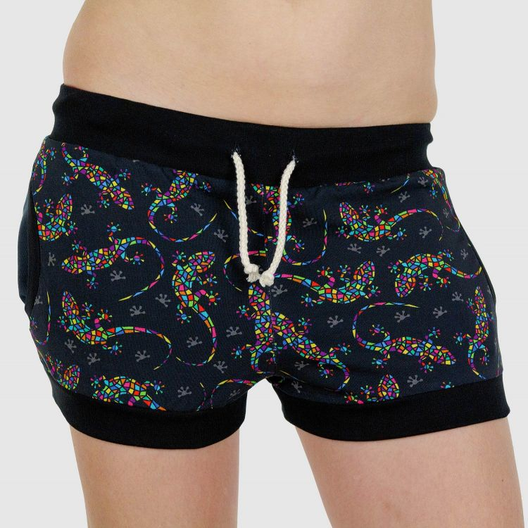 Woman-Shorts DiamantSalamander-Black