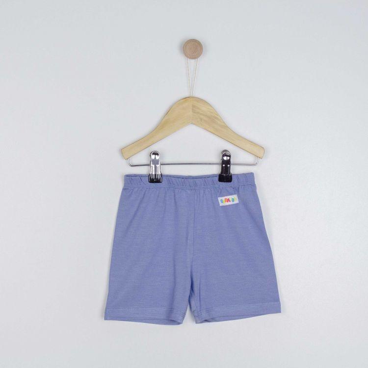 Viskose-Shorts Azurblau