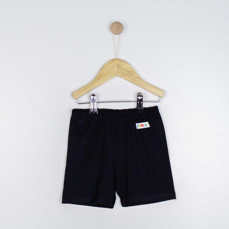 Kids-Viskose-Shorts - Schwarz
