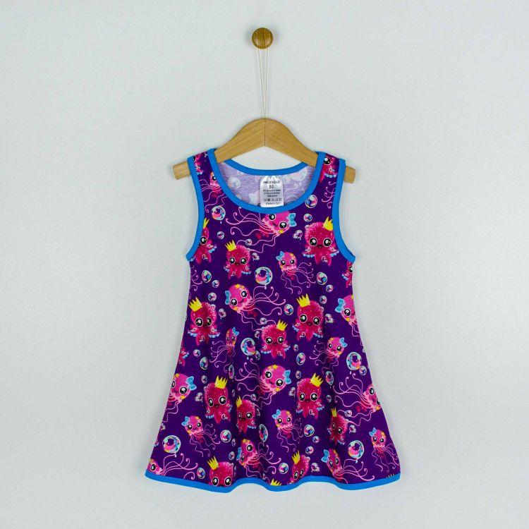 Kids-LittleMissSunshine-Dress - SweetOctopus-Purple