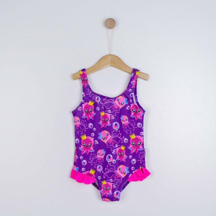 Rüschen-Badeanzug SweetOctopus-Purple
