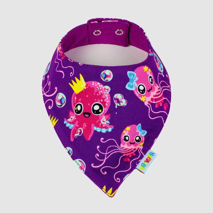 Dreieckstuch SweetOctopus-Purple