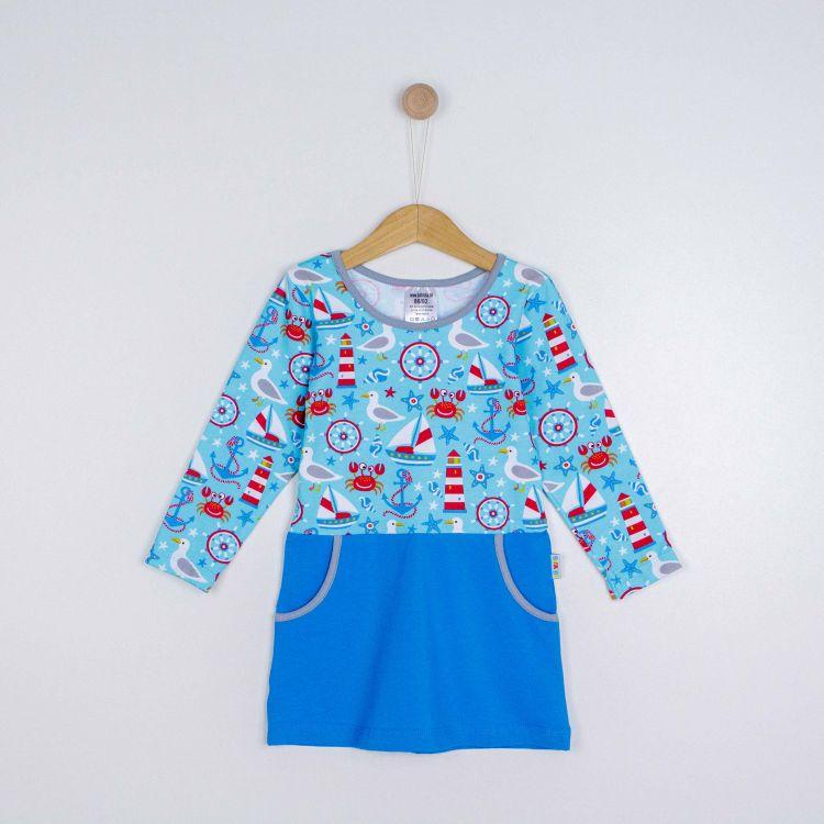 Kids-Langarm-PocketDress - BabaubaMaritimWorld