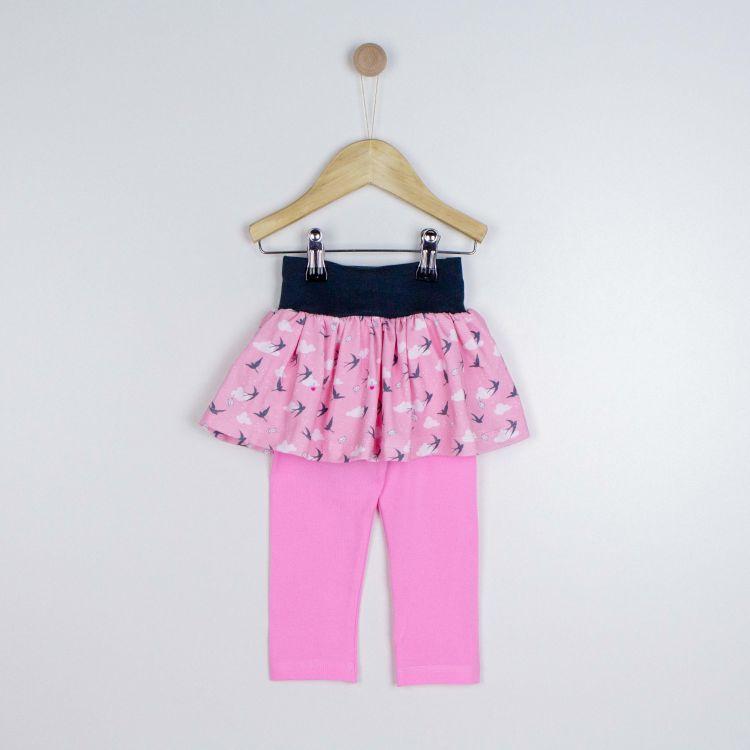 SkinnyPantsRöckchen lang LovelySwallows-Pink-DunkelgrauEdition