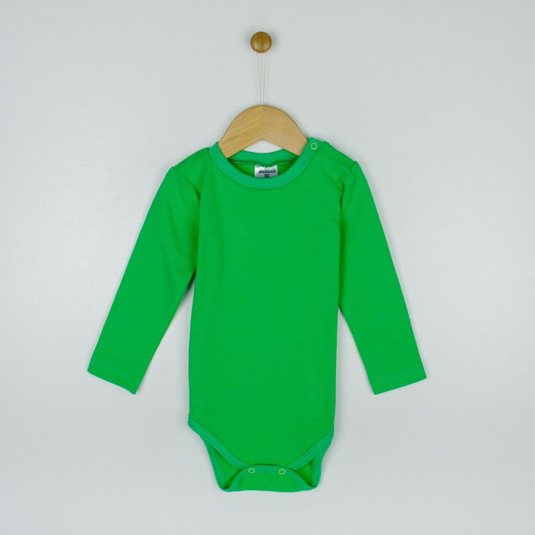Baby-Uni-Langarmbody - Grasgrün