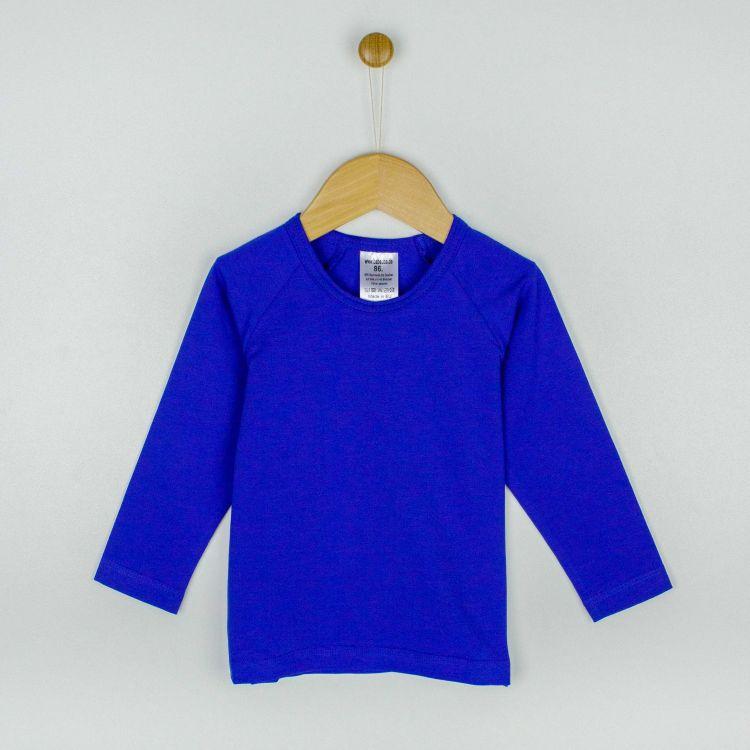 Uni-Langarm-Raglanshirt Königsblau