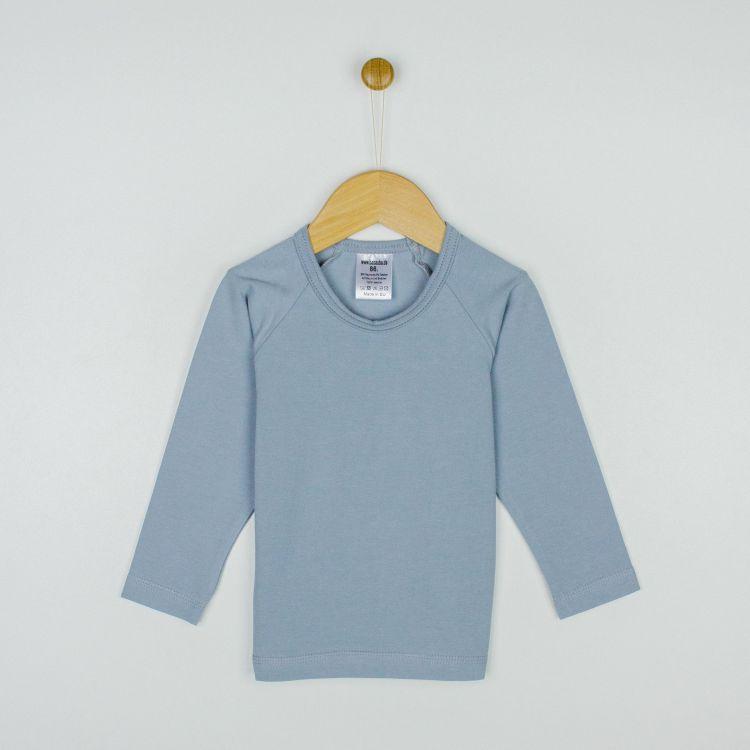 Uni-Langarm-Raglanshirt Grau