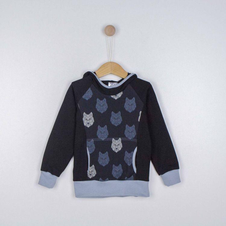 Kids-Hoodie-Shirt - BlackWolf-SchwarzEdition