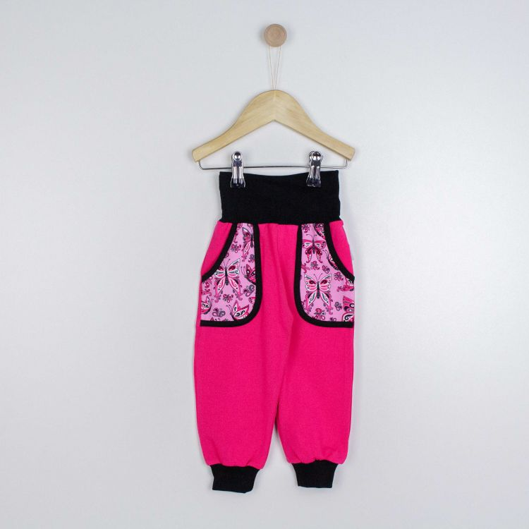 Jersey-CoolPocketPants PrettyButterflies-PinkAndBlack