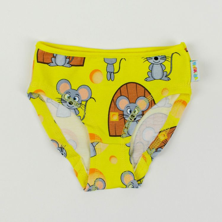 Kids-Underpants - MjamMjamMäuse-GelbEdition