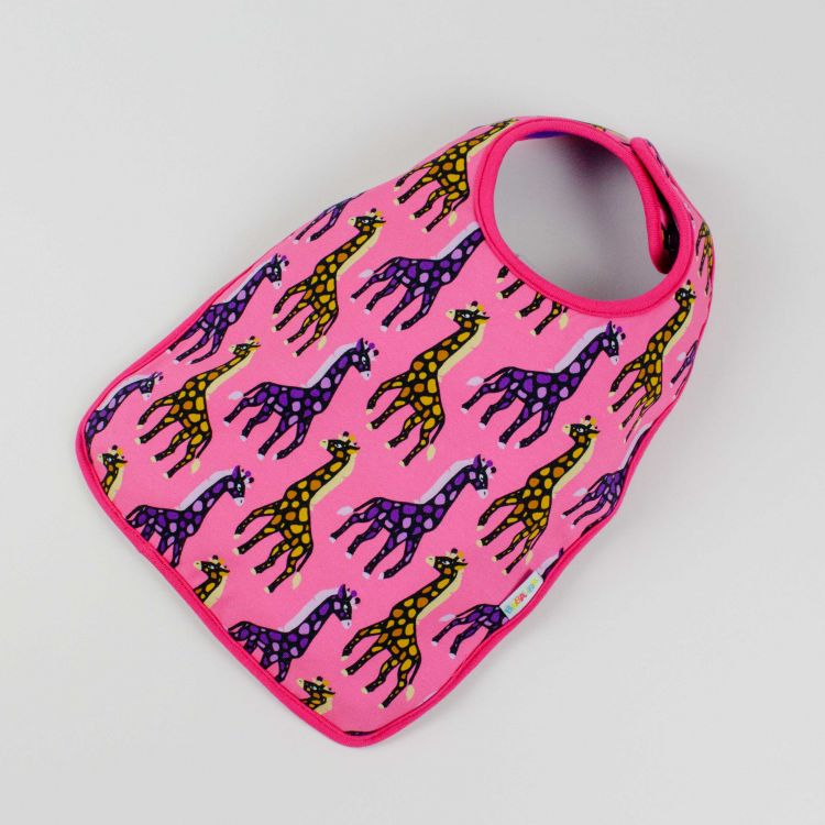 Lätzchen MosaicGiraffs-Pink