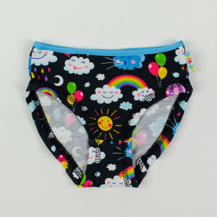 Kids-Underpants - RainbowsAndClouds-Black
