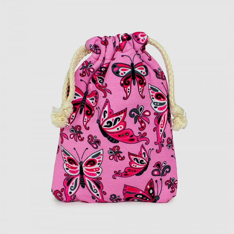 KrimsKrams-Beutel Regular PrettyButterflies-PinkAndBlack