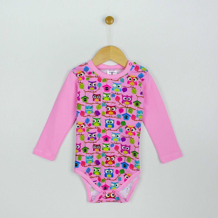 Baby-Langarmbody - BabaubaHoots-Pink