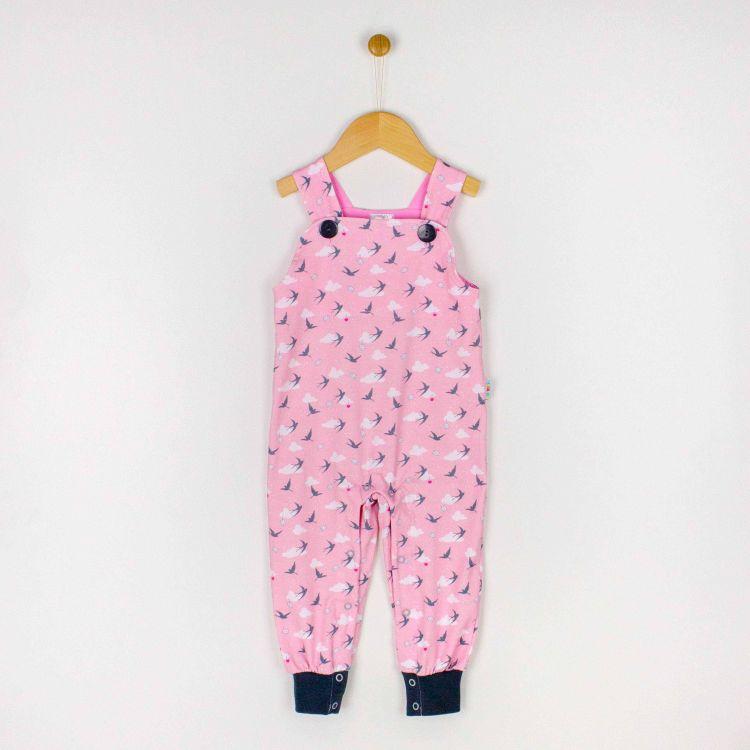 Latzhose LovelySwallows-Pink