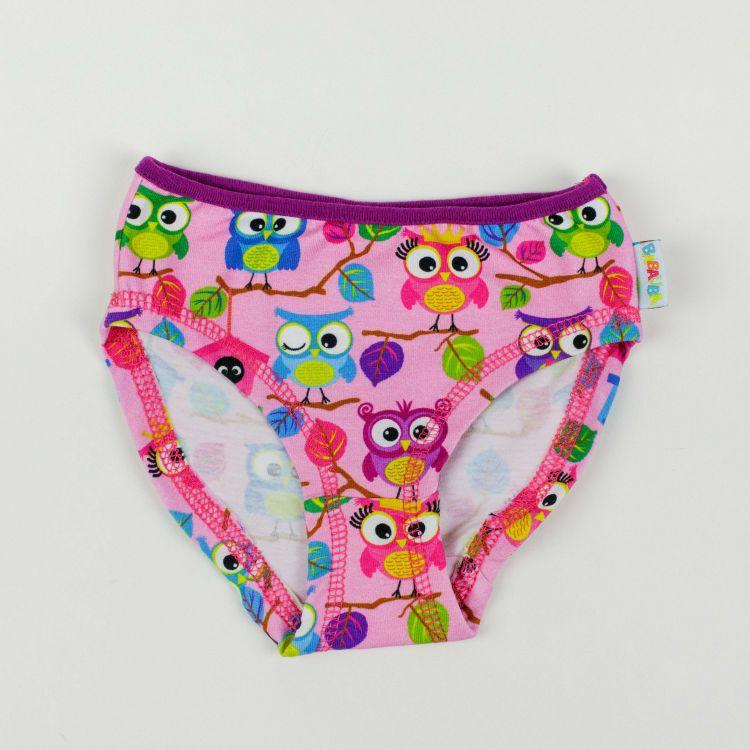 Kids-Underpants - BabaubaHoots-Pink