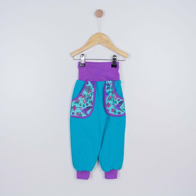 Baby-Jersey-CoolPocketPants - Hummingbirds-Blue