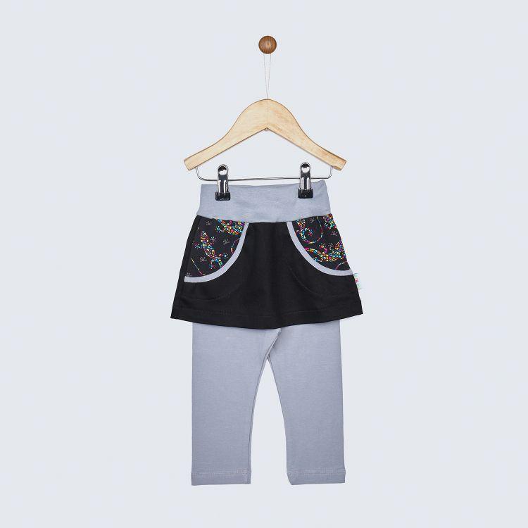 Jeans-SkinnyPantsRöckchen lang DiamantSalamander-Black
