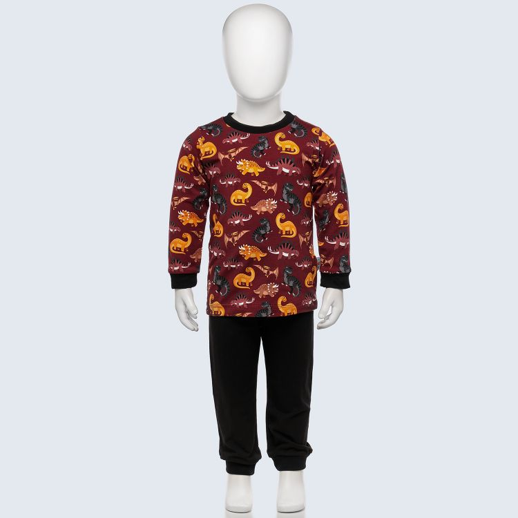 Pyjama-Set BabaubaBigDinos-Brown
