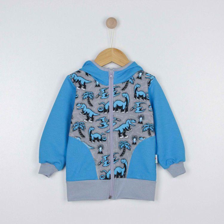 Kids-Hoodie CoolCut - Dinos-Bluegrey