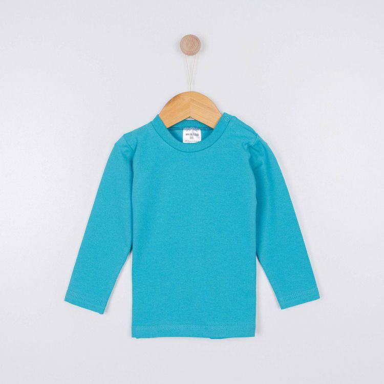 Baby-Uni-Langarmshirt - Türkisgrün