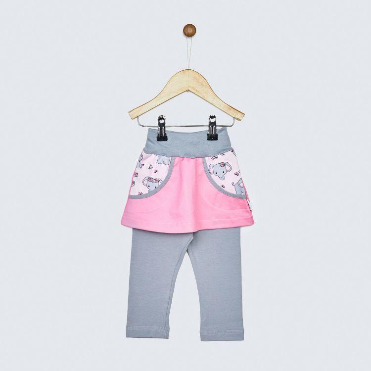 Jeans-SkinnyPantsRöckchen lang CuteFlowerElephant