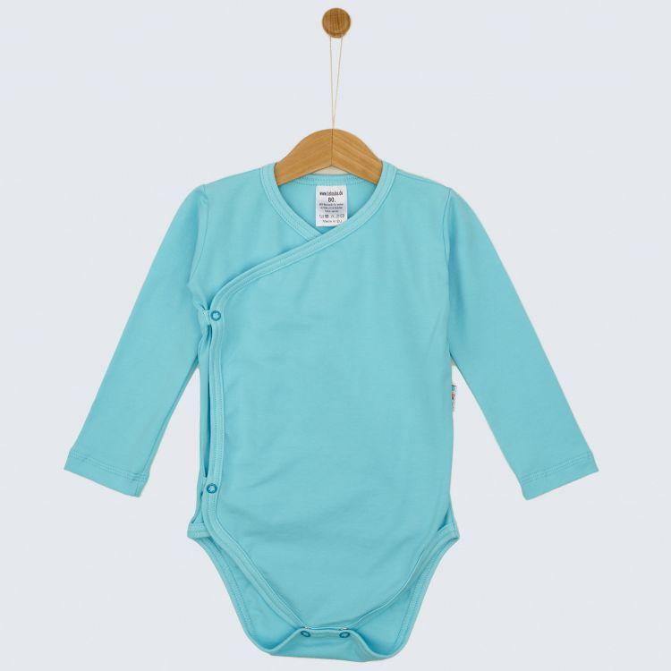 Baby-Uni-Wickelbody - Babyblau