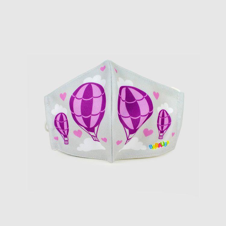 PrettyMask für Kinder - LovelyBalloons-Grey