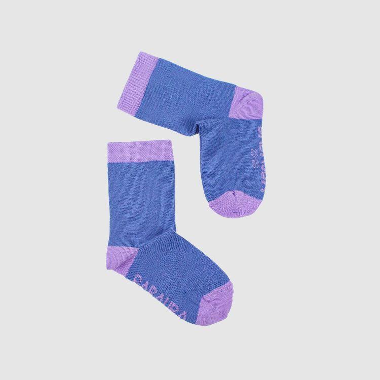 Baby-Uni-SockiSocks - Rauchblau-Lavendel