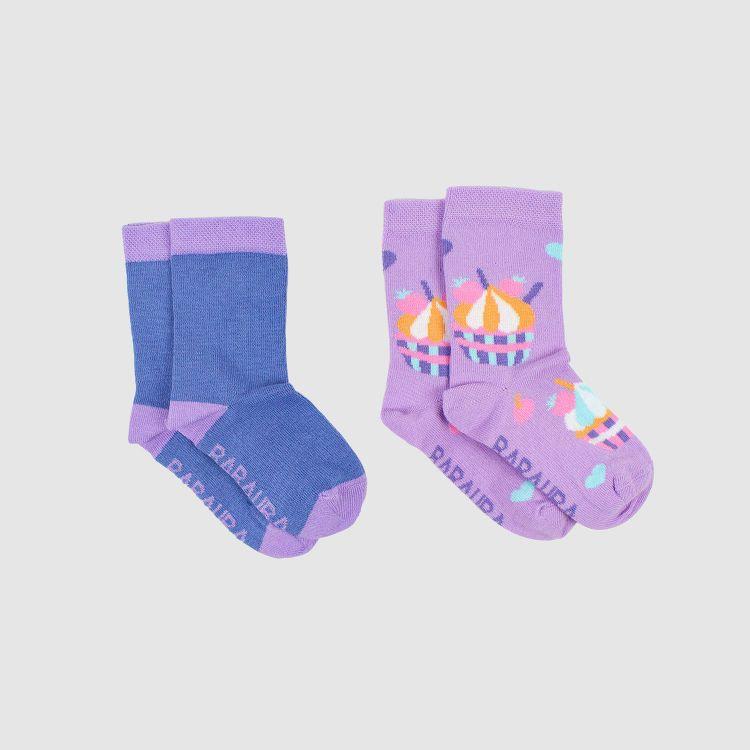 Baby-SockiSocks Kombo - Cupcakes/Rauchblau
