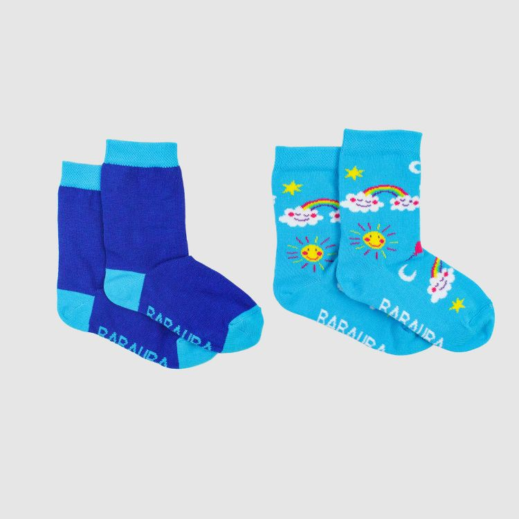 Woman-SockiSocks Kombo Rainbows/Blue