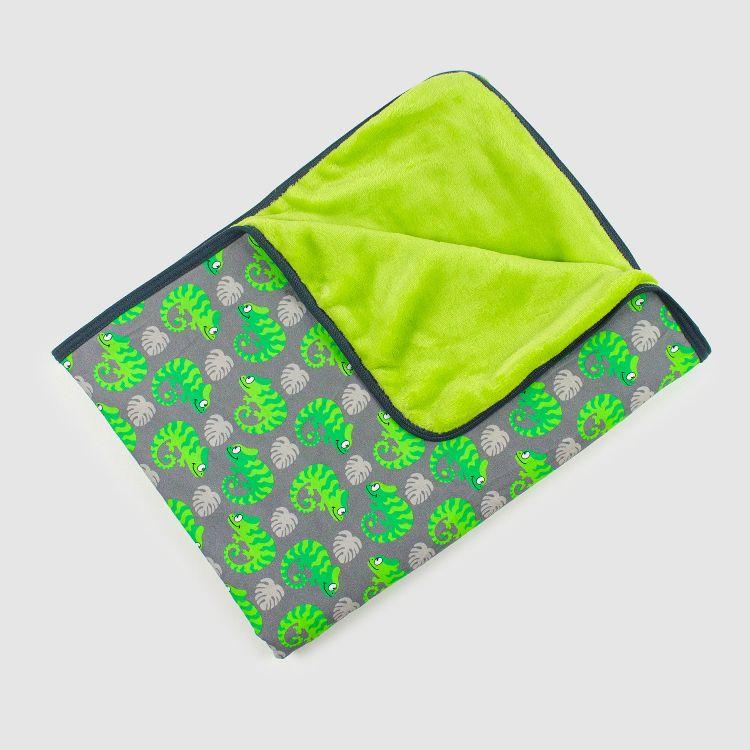 Kuscheldecke Regular - ExoticChameleons-Green
