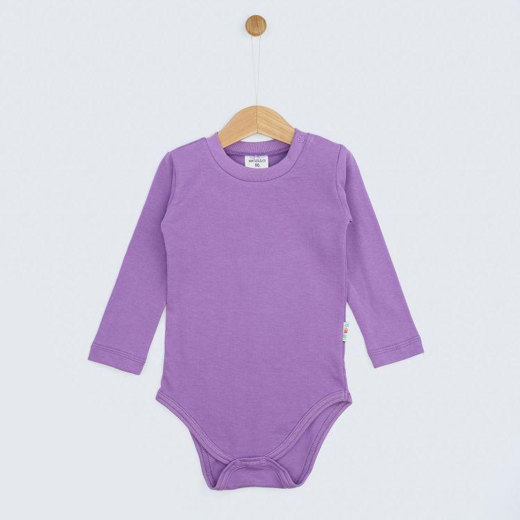 Kids-Uni-Langarmbody - Lavendel