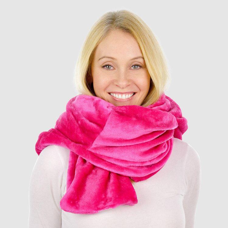 Uni-Kapuzenschal Pink