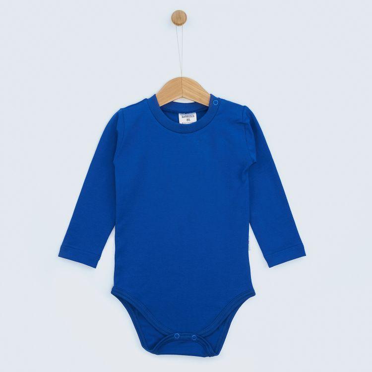 Baby-Uni-Langarmbody - Königsblau